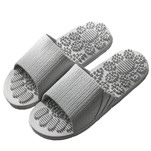 Mannelijk slippers Vrouwelijk slippers Douchepantoffels Massage sandalen Strandschoenen Veluckin,Grijs,40/41EU