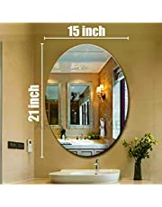 Creative Arts n Frames Oval Shape Wall Mirror for Bathroom, Bedroom, Drawing Room and Wash Basin (15 x 21 inch Size) (1, 15 X 21 inch)
