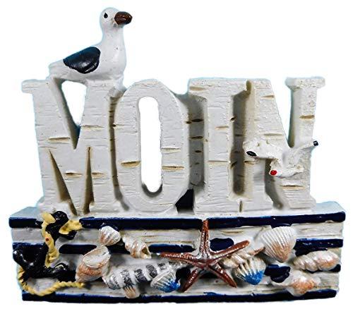 N / A Imán Moin gaviota 7 x 6 cm Souvenir playa concha imán nevera imán marítimo lago animal figura decoración E8