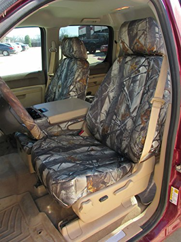 Durafit Seat Covers, Ch37 Camo Seat Covers Chevy Silverado, GMC Sierra LT Double Cab, Front 40/20/40 Rear 60/40