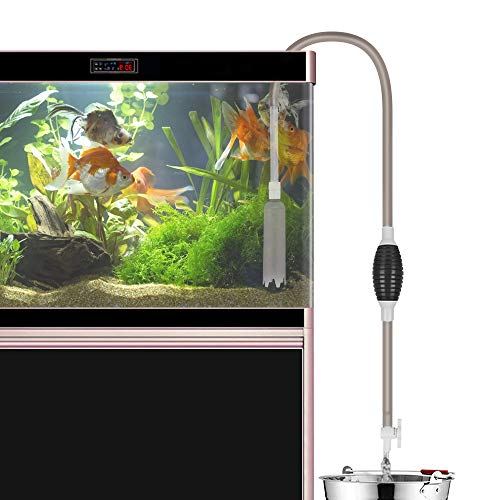 Laelr Aquarium-Reiniger, Aquarium-Reiniger Siphon-Vakuumpumpen-Kies-Reiniger, Selbstansaugender Wasserwechsler mit Einstellbarer Durchflussregelung