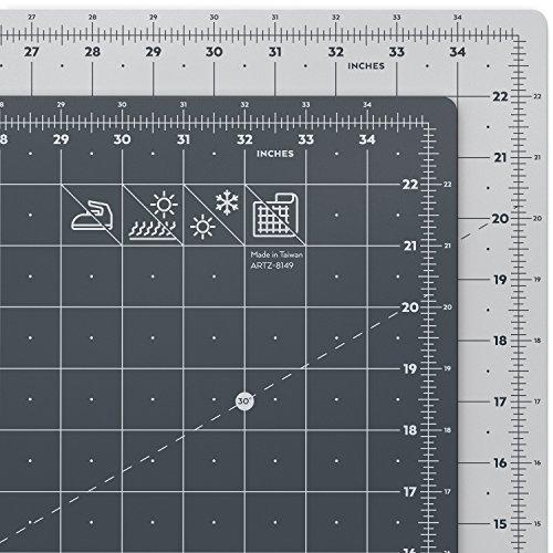 ARTEZA Schneidematte A1, 24 x 36 Zoll (60.96 x 91.44 cm), 3 mm dick, selbstheilende Schneideunterlage, doppelseitig für Rollschneider, zum Nähen, Quilten und Basteln