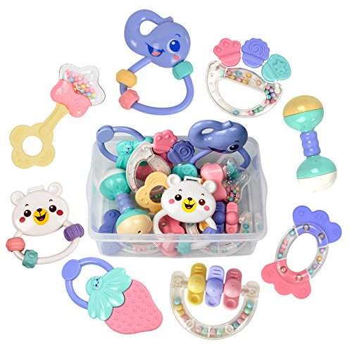 TUMAMA Baby Rattles Teether Toys, Infant...