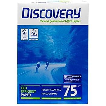 500/fogli Discovery Bianco Carta Per fotocopie A4/75/g//mq