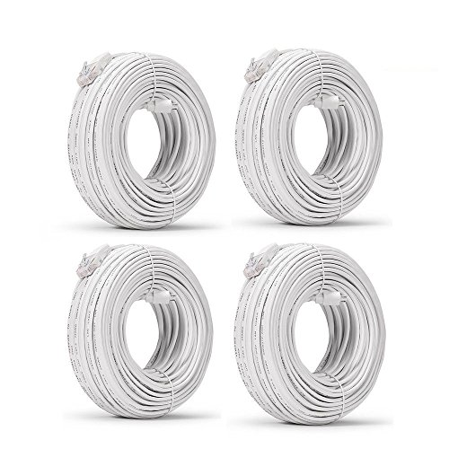 Funlux/Zmodo 3rd Gen Pack of 4 98ft sPoE NVR MicroUSB Camera Cable...