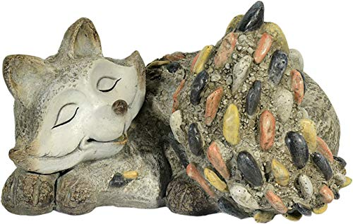 Figure de jardin renard avec d'optique de pierre