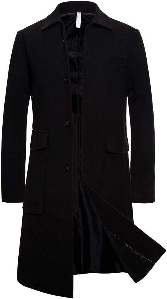 MODOQO Men's Stitching Retro Trench Coat Slim Coat Tuxedo Overcoat Jacket Coat