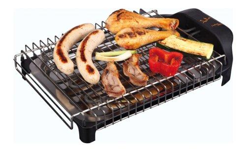 Jata BQ101 Electro Barbacoa Sin Humos Ni Olores Parrilla con 2 Alturas para Cocinar Sano en el interior con Todas las Comodidades 2400 W