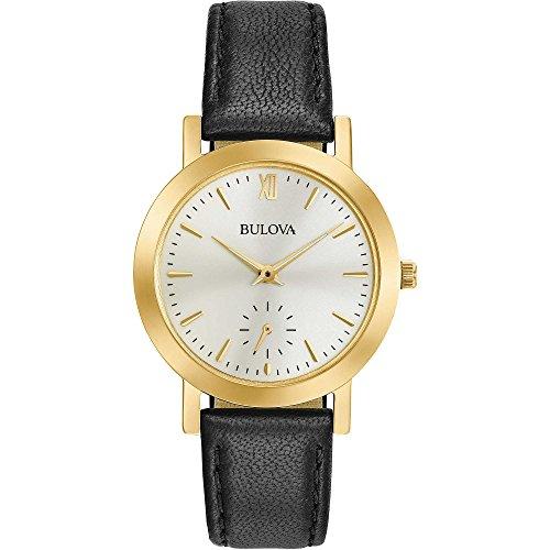 Bulova Damen Analog Quarz Uhr mit Leder Armband 97L159
