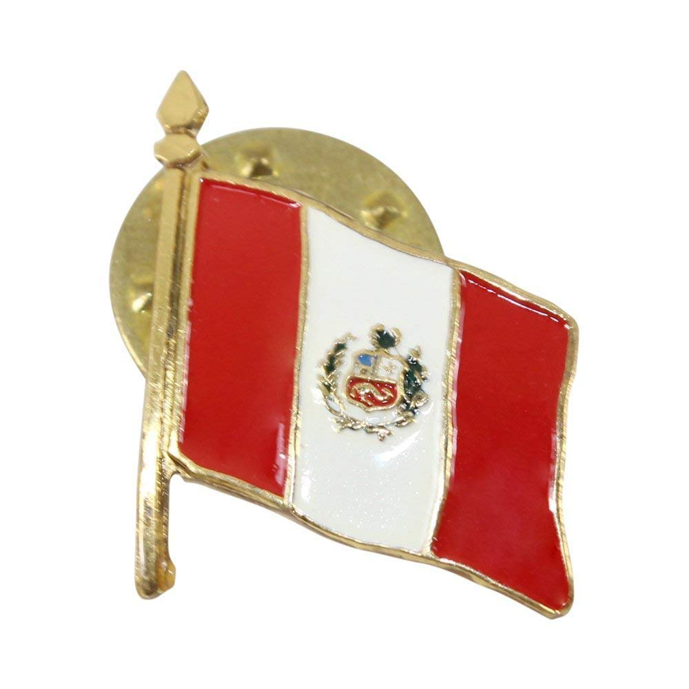 Peruvian Gift Beauty products Official Lapel Pin - painted Golden Max 85% OFF hand finish Je