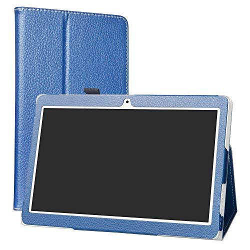 LiuShan Cover ALLDOCUBE M5   ALLDOCUBE iplay10 Custodia, slim Sottile Pieghevole con supporto in Piedi caso per 10.1  ALLDOCUBE M5   ALLDOCUBE iplay10 pro Android Tablet,Blu