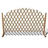 Recinzione a traliccio in legno allungabile, recinzione da giardino, recinzione da giardino, bordo decorativo in legno di pino autoportante, 180 x 100 cm