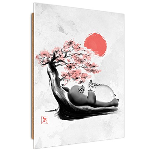 Feeby Dessin par DDJVIGO Image imprimée - 40x60 cm - Blanc Rouge
