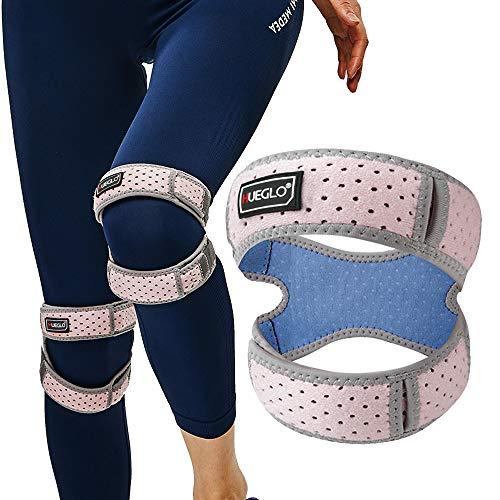 2019 Upgrace Patella Tendon knie riem voor gewrichtspijn, verstelbare knie band band voor mannen, jumper neopreen knie riem voor hardlopen/artritis/ligament letsel/tendonitis, zwart (1 stuk), 12''-17'' Pink Knee Strap