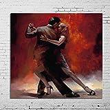 LEPOTN 100% handgemalte Bilder Liebhaber Tango Dance Moderne abstrakte ölgemälde auf leinwand wandkunst für Wohnzimmer dekoration-44 x88(110X220CM) Rahmenlos