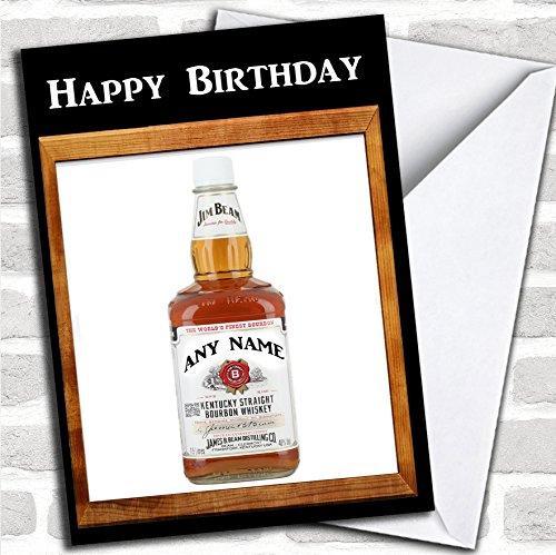 Jim Beam Whiskey verjaardagskaart met envelop, volledig gepersonaliseerd, snel en gratis verzonden