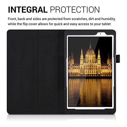kwmobile Huawei MediaPad T2 10.0 Pro Hülle - Tablet Cover Case Schutzhülle für Huawei MediaPad T2 10.0 Pro - Schwarz mit Ständer - 4