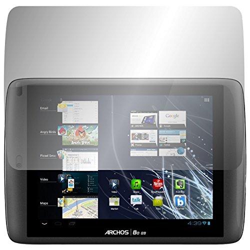 Slabo 2 x Bildschirmschutzfolie für Archos 80 G9 Bildschirmschutz Schutzfolie Folie Crystal Clear KLAR