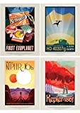 NASA POSTER SPACE EXOPLANET TRAVEL ADVERT PACK x 7 POSTERS