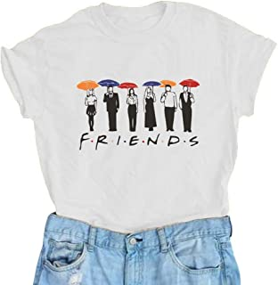AEURPLT Women Summer Short Sleeve Cute Funny Graphic Vintage T Shirt Tops Tees