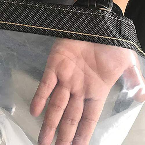 MYMAO 010.12mm Klar Tarps wasserdichte Plane, transparente Kunststoff-Anti-Aging-Tuch Regenschutz,3x8m