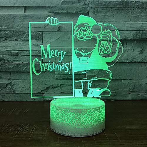 3D-Illusionslampe LED-Nachtlicht Kreative Anta Mall Weihnachtsgeschenke Visuelle Lichter Großhandel Trange USB-Leuchten