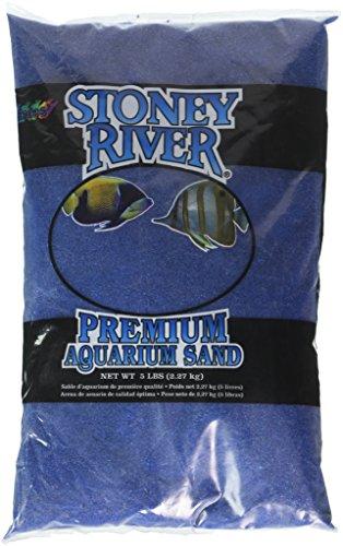Stoney River Blue Aquatic Sand Freshwater and Marine Aquariums, 5-Pound Bag