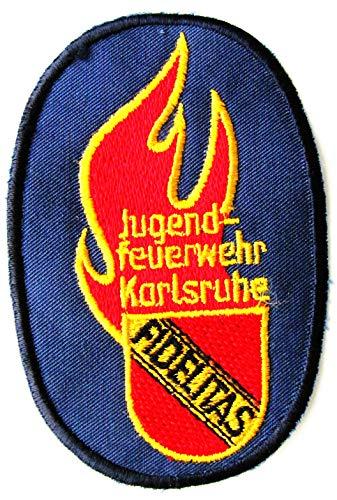 Jugendfeuerwehr Karlsruhe - Fidelitas - Ärmelabzeichen - Abzeichen - Aufnäher - Patch