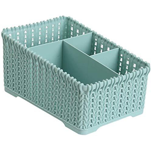 CMHC Los estantes de Escritorio Caja de Almacenamiento Duradero de Maquillaje plástico Organizador Caja de Almacenamiento Caja de pañuelos pequeños artículos Estuche de Almacenamiento (Color : Blue)