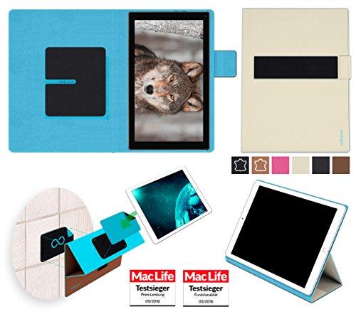 reboon Hülle für Blaupunkt Endeavour 101L Tasche Cover Case Bumper | in Beige | Testsieger