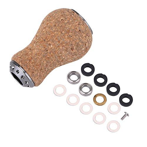Alomejor Pomo de madera de pesca, piezas de repuesto para carrete de cebo, Daiwa y Pinning, A