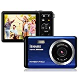 Compact Digital Camera, Rechargeable 20MP Kids Camera with 2.8' LCD 8X Digital Zoom for Adult Seniors Elders(Blue)