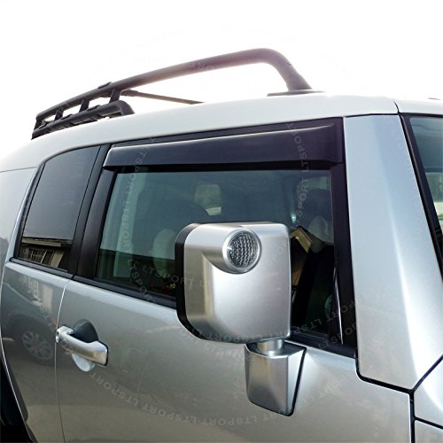 LT Sport Custom Fit 07-13 Toyota FJ Cruiser Side Window Visor Deflector 4pcs