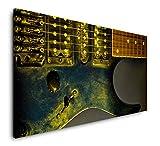 Paul Sinus Art Gitarre in schwarz 120x 60cm Panorama