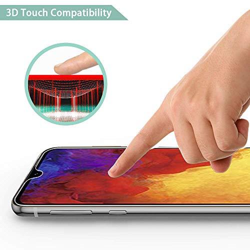 Ferilinso Schutzfolie Kompatibel mit Huawei Y6 2019 / Huawei Y6 Pro 2019 / Honor 8A, [3 Pack] Panzerglas Schutzfilm aus gehärtetem Glas (Transparent) - 4
