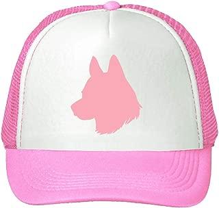 Trucker Hat Icelandic Sheepdog Silhouette Polyester Baseball Mesh Cap One Size