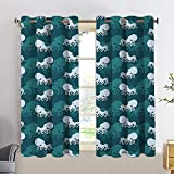 Blackout Curtains Motorcycle,Vintage Scooters with Step Through Frame on Display Lively Colors Spotlight,Emerald Scarlet,Adjustable Tie Up Shade Rod Pocket Curtains 42x45 inch