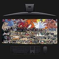 ナルト マウスパッド 大型 ゲーミングマウスパッド アニメ 大判 デスクマット ラップトップマット 巨大型 防水 滑り止-A_800x300x3mm