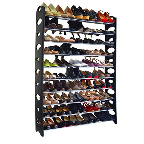 Zapatero 10 Nivel de Zapatos estantes de Almacenamiento de Bricolaje Grande del Zapato Zapatos Gabinete Torre Organizador del Espacio de Muebles for el hogar Ahorro Zapatera