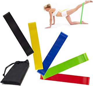 KINSPORY 5 Varying Resistance Levels Resistance Loop Exercise Bands for Home Fitness, Stretching, Strength Training, Physi...