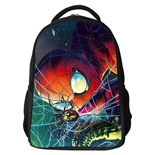 LLYDIANMochila Junior para Niños 3D Mochila Mochila Marvel Spider-Man Mochila Infantil de la impresión 3D Mochila…