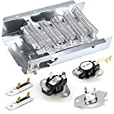 Appliance parts 279838 dryer heating element & 3977767 & 3392519 dryer Thermal Fuse & wp3387134 & 3977393 Thermostat by AMI PARTS