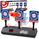 CPSYUB (2021 Updated Edition) Electric Digital Target for Nerf Guns Toys,Scoring Auto Reset Nerf Target for Shooting with Wonderful Light Sound Effect Nerf Guns for Boys Girls