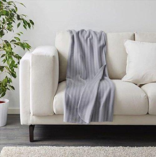 IKEA Überwurf VITMOSSA grau 120 x 160 cm, grau, .