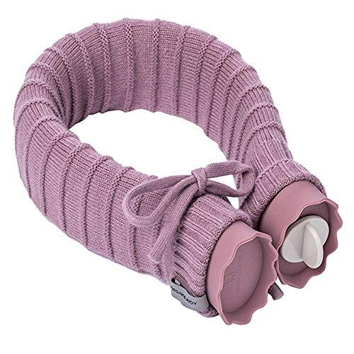 YUNLILI Conveniencia Bolsa de Agua Caliente más Caliente, en Forma de U Bolsa de Agua Caliente, Bufanda de Silicona bottl Agua Caliente (Color : Purple)