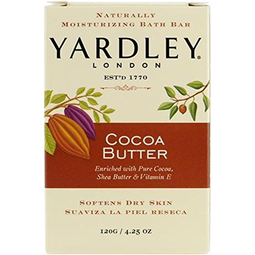 Yardley London Pure Cocoa Butter & Vitamin E Bar Soap, 4.25 Ounces /120 G (Pack of 1)