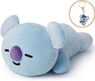 Hosston Kpop BTS Plush Pillow Cartoon Soft Stuffed Play Doll Toys CHIMMY Cooky KOYA MANG RJ SHOOKY TATA Cute Bolster Pillow Dolls with Free Keychain Best Gift for A.R.M.Y( Style 04-KOYA)