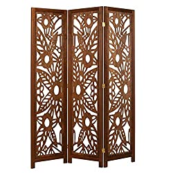 Legacy Decor 3 Panel Solid Wood Screen Room Divider on amazon