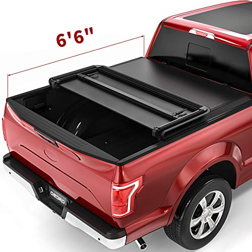 OEDRO Upgraded Tri-Fold Truck Bed Tonneau Cover Compatible with 2015-2021 Ford...