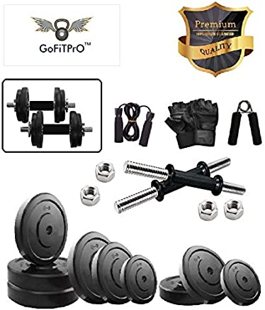 GoFiTPrO 19 KG Home Gym Kit with Accessories
